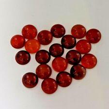 20 Pieces Red Brown Carnelian 8 x 8 MM Round Cabochon Gemstones