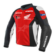 HONDA CBR Motorcycle Racing Leather Jacket Red and Black for men, Women, unisex,