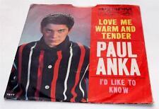 Paul Anka  Kiss Me Warm And Tender 1962  RCA 7977 Pop Rock & Roll 45 rpm PS VG++