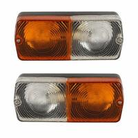 Front headlight Asymmetric 2 lights for same-landini