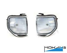toyota landcruiser 80 series corner park lights 1989-1998 Pair (chrome rim) L&R