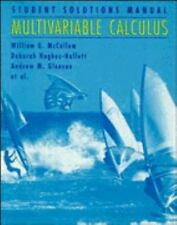 Multivariable Calculus, Student Solutions Manual Lonzano, Guadalupe I., Flath,