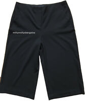 New Womens Marks & Spencer Per Una Black Crop Trousers Size 14