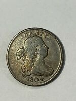 1804   Half Cent  plain 4 stemless