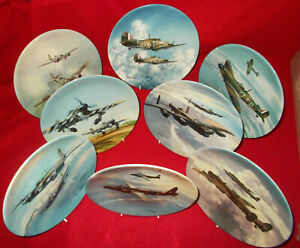 REACH FOR THE SKY BY MICHAEL TURNER AIRCRAFT PLATES COALPORT - SELECT PLATE