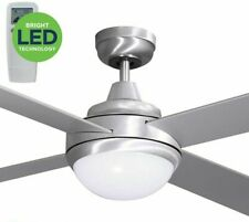 """Mercator Grange 1300 DCII (Brushed Steel) 52""""Ceiling Fan With LED Light & Remote"""