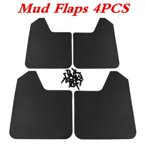 4Pcs Plastic Wearing Mud Flaps Splash Guards Universal Car SUV Front Rear Fender