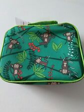 New Cheeky Kids Lunch Bag Box Monkey Jungle Vines Zoo Insulated Green