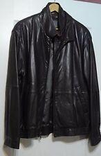Remy Men's Leather Coat Jacket size 40 L dark brown