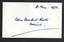 Robin Durnford-Slater signed 3x5 card Last Commander in Chief of The Nore