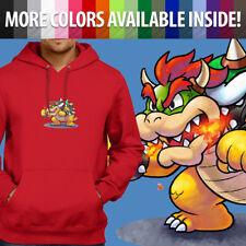 Nintendo Super Mario Bros Boss Villain Bowser Pullover Sweatshirt Hoodie Sweater