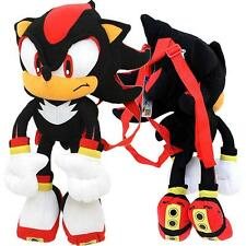 "Nanco Sonic Shadow Misterious the Hedgehog 22"" inches Soft Plush Doll Backpack"