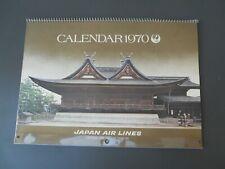 Vintage Calendar Calendrier 1970 Japon Japan Air Lines