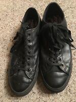 GREAT CONDITION MENS BLACK LEATHER ALDO TRAINERS Size 8 (EU 42) RRP £75.00