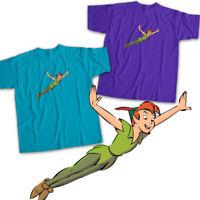 Peter Pan Flying Disney Neverland Cartoon Mens Womens Kids Unisex Tee T-Shirt