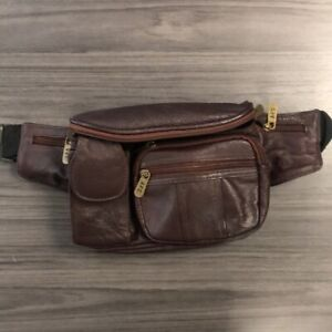 Vintage A.P.C. Leather Fanny pack Brandy Brown