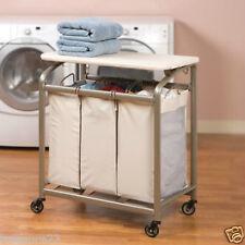 Seville Classics 3-Bag Laundry Sorter w/Folding Table New