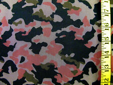 CAMO COUTURE TULLE CORAL 100% POLYESTER MESH FABRIC BY THE 1/2 YARD