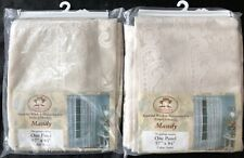Vtg USA Quaker Lace Mandy Cream Window Curtain Panels Lot 57 x 84 Each Scalloped