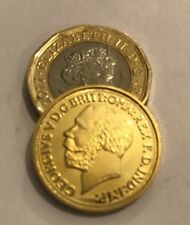 Restrike George V 1914 Full Sovereign Proof Coin Gold Plated