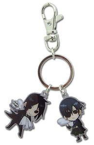 Black Butler Authentic Anime Metal Keychain Sebastian and Ciel SD #4950 *NEW*