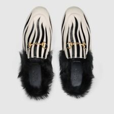 Gucci Women Princetown zebra fur slipper $ 1100 Size 38.5