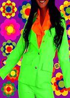 316✪  Woodstock Neon Jacke 70er Jahre Hippie Flower Power Schlager Festival