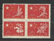 CHINA PRC SC#412a,    Successful Harvest in a Block of Four   C60   Mint NH NGAI