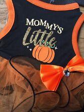 Way To Celebrate XX-Small Halloween Mommy's Little Pumpkin Dog Dress tutu bow