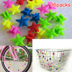 36PCS Bicycle Wheel Spoke Plastic Beads Decoration Bike Cycling AccessoriesBE