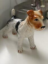 Vintage Japan Porcelain Airedale Wire Hair Fox Terrier Dog Figurine Animal