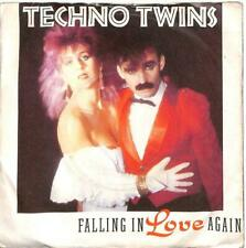 "Techno Twins - Falling In Love Again - 7"" Record Single"