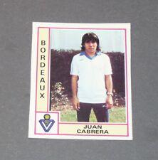 CABRERA GIRONDINS BORDEAUX LESCURE RECUPERATION PANINI FOOTBALL 80 1979-1980