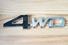 3D 4x4 nero di CROMO METALLO ADESIVO Badge per Jeep Renegade Commander Compass SUV