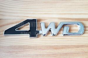 Negro Cromado 3D 4WD Metal Insignia Pegatina Para Kia Sorento Sedona Stonic