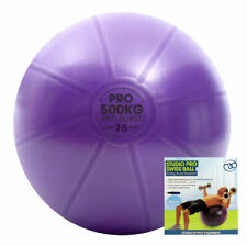 Fitness Mad 500kg Studio Pro 75cm Swiss Exercise Weight Training Ball with Pump