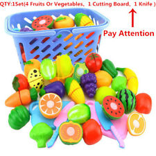 Kids Fruit Vegetable Food Pretend Role Play Cutting Set Toy Affordable HOT sale#