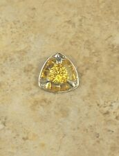 STERLING SILVER 4.50 CT TRILLION SHAPED CITRINE SLIDE PENDANT QVC SOLD OUT