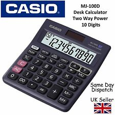 CASIO MJ100D MJ-100D DESKTOP CALCULATOR -10 digit display,150 step recheck