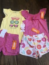 NWT Gymboree girl 3-piece yellow fruit lemon shorts SUMMER clip SET 5 5T TWINS