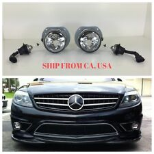 MERCEDES BENZ 07-14 CL550 CL600 AMG CLEAR FOG LIGHTS LAMPS W/ BULBS WIRE PAIR