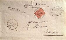 """§ VILLA ESTENSE - BOLLO CORSIVO E ESTE 24/2/1884 SU 2 C. - """"AFFARI DI LEVA"""""""