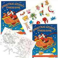 Small Christmas Sticker Colouring & Puzzle Activity Book Stocking Filler A6 size