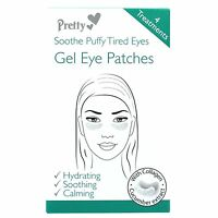 ** 2 X PRETTY SOOTHE PUFFY TIRED EYES GEL EYE PATCHES NEW ** 4 TREATMENTS EACH