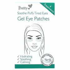 ** PRETTY SOOTHE PUFFY TIRED EYES GEL EYE PATCHES NEW ** 4 TREATMENTS