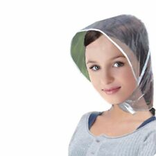 1PC Reusable Waterproof Plastic Rain Wind Hat Transparent Hair Bonnet Cap Hood Z