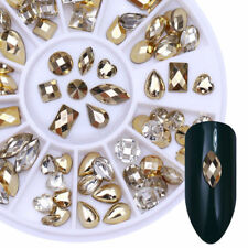 New Chic Double-sided Nail Art Rhinestone Marquise Heart Studs 3D Decoration