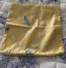 """Arthur Sanderson Finches Yellow Cushion Cover 18x18"""""""