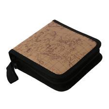 40 Disc  Map CD DVD Storage Holder Sleeve Case Box Wallet Bag Album ZipperY2Q1