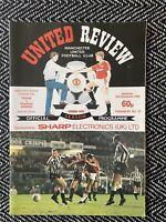 Manchester United v Charlton Athletic 1988 Programme! FREE UK POSTAGE! LAST ONE!